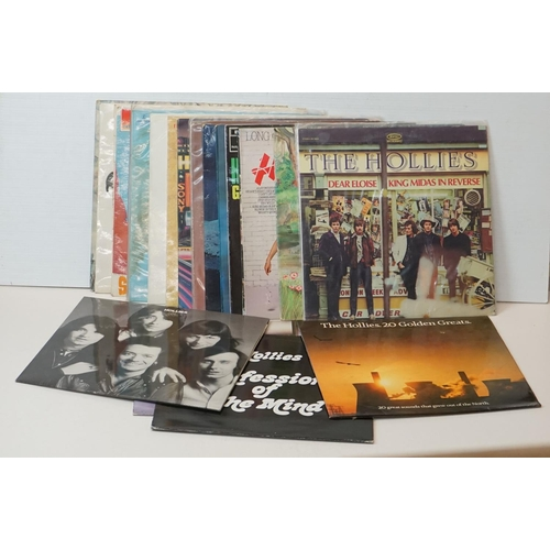 910 - Vinyl - A collection of approx 20 x vinyl LP's by The Hollies to include : 20 Golden Greats, Confess...