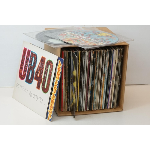 913 - Vinyl - A collection of approx 70 x mainly Rock & Pop vinyl LP's spanning the decades to include : B...
