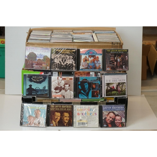 1010 - CDs - Around 400 CDs featuring Country and various artists, vg condition