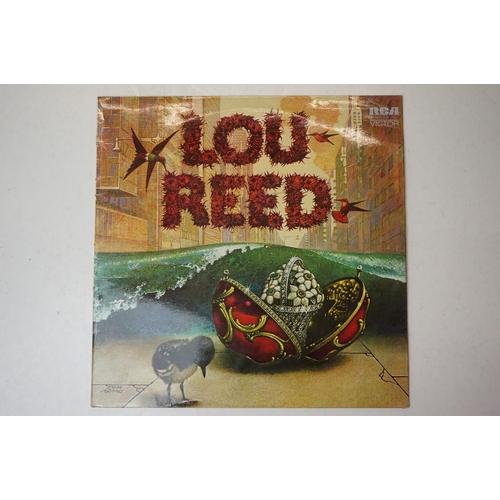 530 - Vinyl - Lou Reed self titled LP on RCA Victor, orange label, laminated sleeve front cover, sleeve v ...