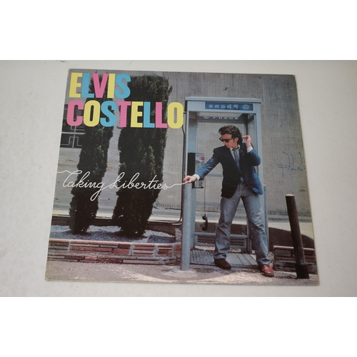 946 - Vinyl - Five LPs to include 2 x Elvis Costello, 2 x Ducks Deluxe and Sweet Fanny Adams, sleeves vg, ...
