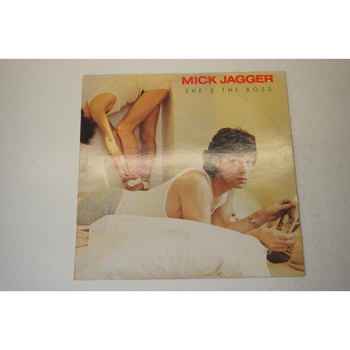 954 - Vinyl - The Rolling Stones / Jagger collection of 8 LP's to include Sticky Fingers (COC 59100), Afte...
