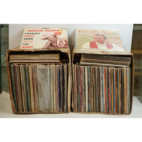981 - Vinyl - Around 200 Country, MOR, Easy Listening and other genre LPs, vg+ overall (two boxes)