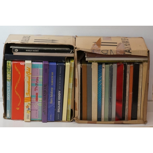 982 - Vinyl - Around 40 LP Box Sets, mainly Country examples, vg++ (two boxes)