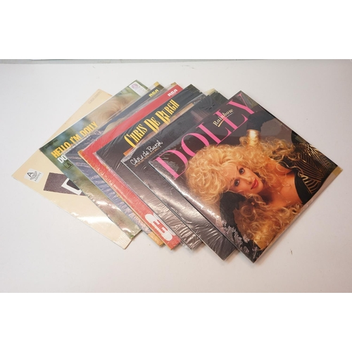 985 - Vinyl - Around 100 Country LPs mainly in plastic sleeves, sleeves vg+, vinyl vg++ overall