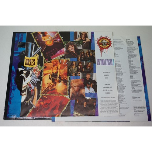 8 - Vinyl - Three Guns n Roses LPs to include Appetite For Destruction with advert insert, and Use Your ...