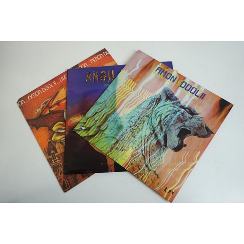 1047 - Vinyl - Amon Duul II 3 LP's to include Wolf City (UAG 29406 Stereo), Carnival In Babylon (UAG 29327 ...