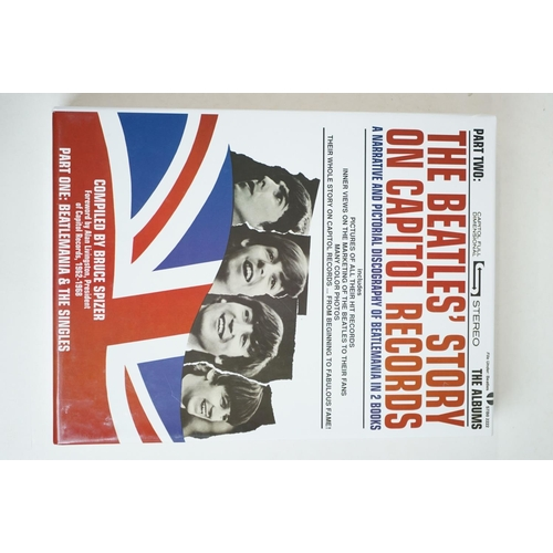 707 - Memorabilia - The Beatles Story On Capitol Records Parts One and Two (Slipcase edition) signed by au...