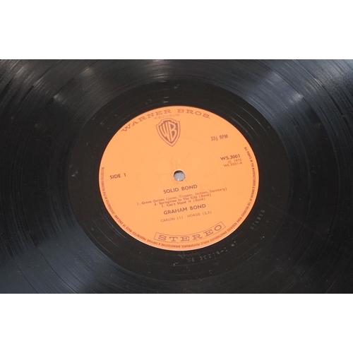 225 - Vinyl - Graham Bond – Solid Bond UK 1st pressing double album with Orange Warner Bros labels, also f...