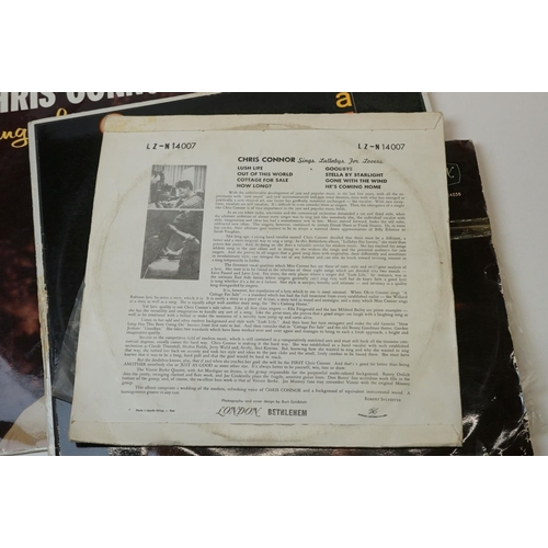 246 - Vinyl - Chris Connor 4 rare 1st press albums to include 'Sing Lullabys For Lovers' (1954 South Afric...