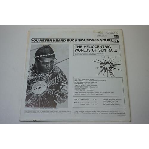 254 - Vinyl - Sun Ra – The Heliocentric Worlds Of Sun Ra (1969, UK 1st pressing, Black label, Fontana Reco...