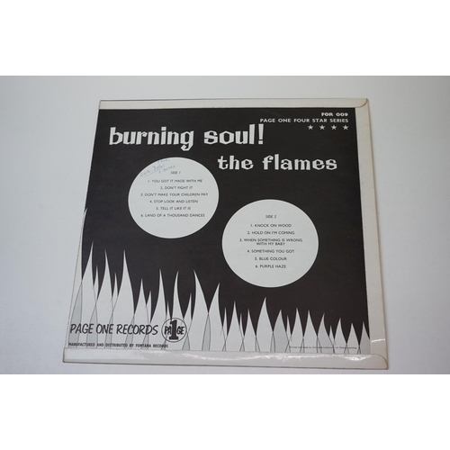 274 - Vinyl - The Flame 'Burning Soul !' rarely seen soul album by this South African band that included B...