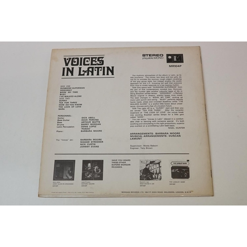 290 - Vinyl - Voices In Latin 'Voices In Latin' (1968 UK 1st pressing on Morgan Records, MR 104P) Rare bos...