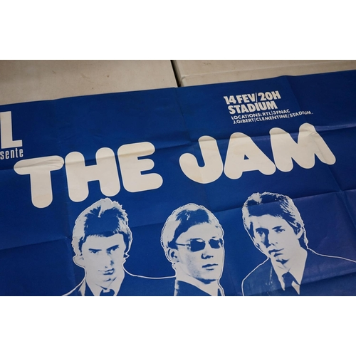 311 - Music Poster – The Jam  Original extremely rare vintage Le Mans, France 1978 concert poster. Unique,...
