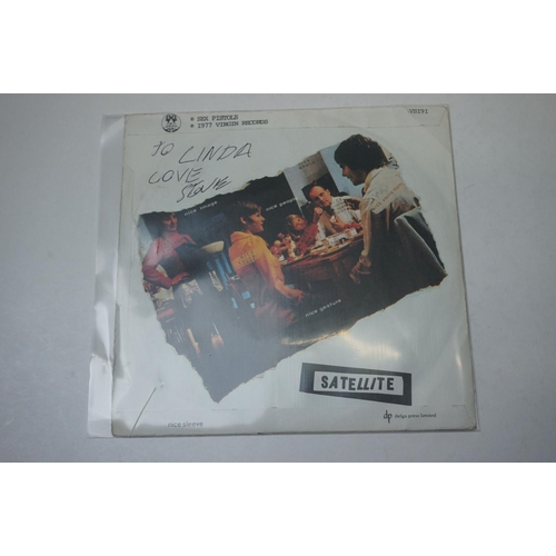 312 - Vinyl & Autographs - Sex Pistols Holidays In The Sun 1977 UK first pressing single signed and dedica...