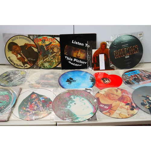 1057 - Vinyl - Over 20 Picture discs featuring Tears For Fears, Culture Club, Batman Soundtrack, ET, Elton ...