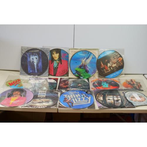 1059 - Vinyl - Over 20 Picture discs featuring REM, Tina Turner, Alice Cooper, Talking Heads etc, vg+