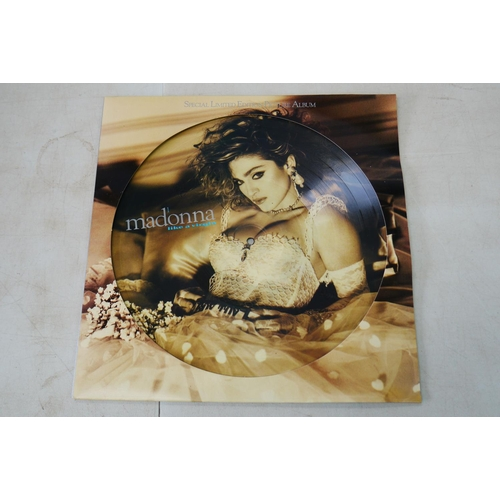 1061 - Vinyl - Three Madonna Picture Discs to include Like A Virgin, Spank and Crazy For You, vg+