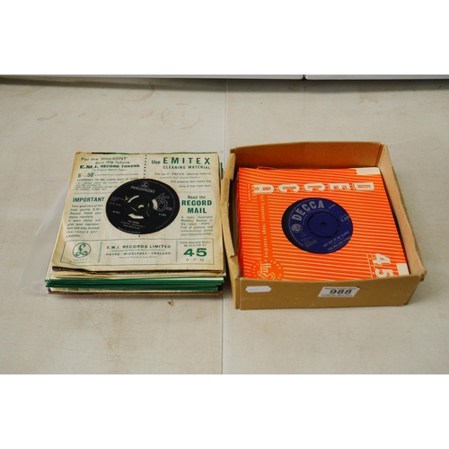 988 - Vinyl - Collection 14 Beatles 45's (mainly from the Beatles singles box set), plus a Magical Mystery...