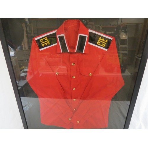 714 - Music Memorabilia - Michael Jackson - Two framed and glazed items of clothing originally from the pr...