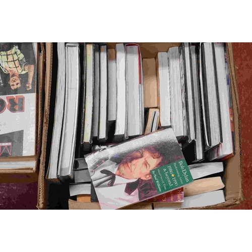 739 - Music Books - Large quantity of music related books to include The Book of Rock, The Beach Boys, Elv...