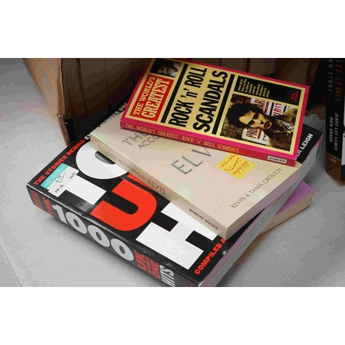 741 - Music Books - Approximately 80 music related books to include Jerry Lee Lewis, Nineties Music, Bruce...
