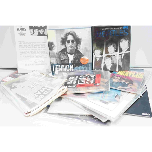 756 - Music Memorabilia - Collection of The Beatles and  band member related ephemera to include Fan Club ...