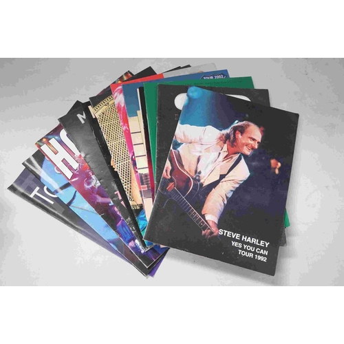 764 - Concert Programmes - Large collection featuring bands, artists, comedians and performers to include ...
