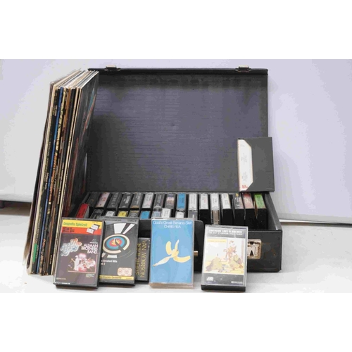 798 - Vinyl / Cassette Tapes - Mixed lot to include 13 LPs featuring Steppenwolf, and 32 x tapes featuring...