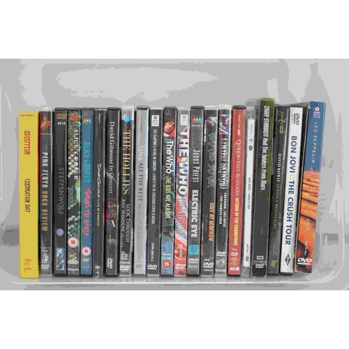 799 - Music DVDs - 21 Dvds to include 3 x David Bowie, 2 x Led Zeppelin, Pink Floyd, The Who, Queen etc