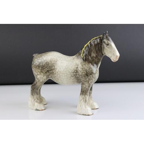 1 - Beswick Rocking Horse Grey Shire Mare
