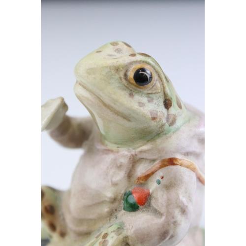 23A - A Beswick Beartrix Potter figure of Mr Jermey Fisher silver back stamp.