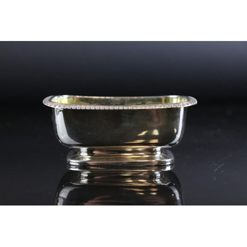 26 - A pair of George III fully hallmarked sterling silver salts, maker marked for John Emes, assay marke...