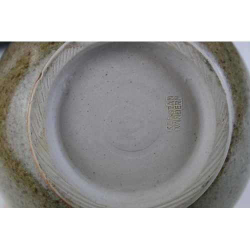 3 - A Kerstan studio pottery jug marked to underside.