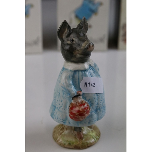 30 - Three boxed Beswick Beatrix potter figures to include Pig Wig 1972,Susan 1983 and Sally Henny Penny.