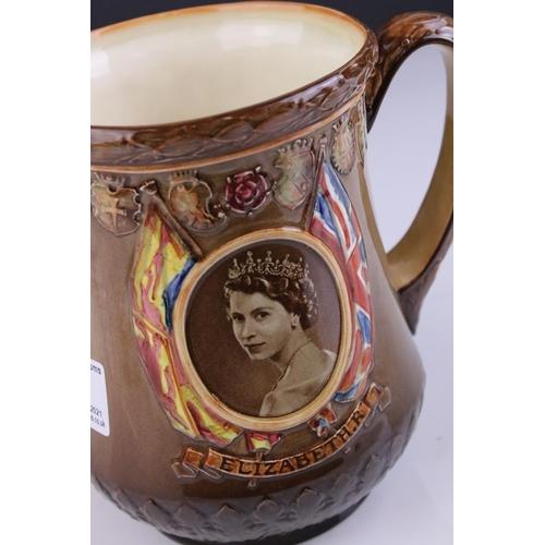 33 - A Royal Doulton 1953 Queen Elizabeth Coronation jug Westminster Abbey June 2nd 1953.