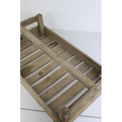 47 - Original Vintage French Wooden Trug / Crate marked ' Tomates ', 60cms long