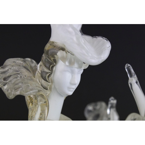 6 - A Barovier Murano mid century glass  figure of a dancing lady.