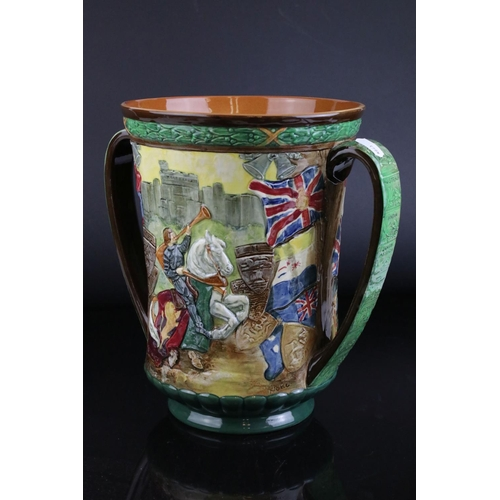 7 - A large limited edition Royal Doulton George VI Coronation loving cup 1937 no 632 / 2000.