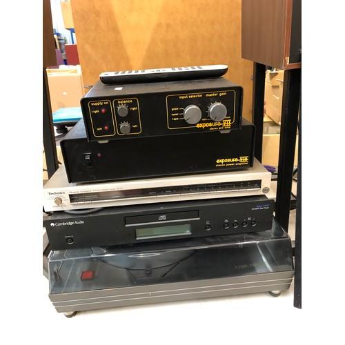 754a - Stereo Equipment - Group of including Technics ST-S7 FM.AM receiver, Cambridge Audio azur 340C CD Pl...