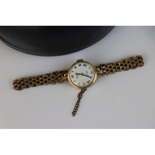 211 - A cased ladies Rotary 17 jewel incabloc movement wristwatch in 9ct gold case with fully hallmarked 9...