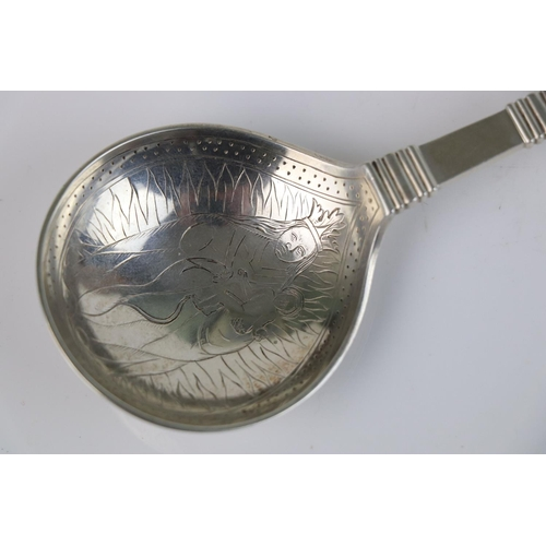 227 - A vintage Norwegian 830S silver Baptismal Christening spoon by David Anderson.