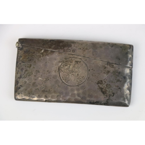 238 - A fully hallmarked sterling silver card case, maker marked for Deakin & Francis Ltd, assay marked fo...