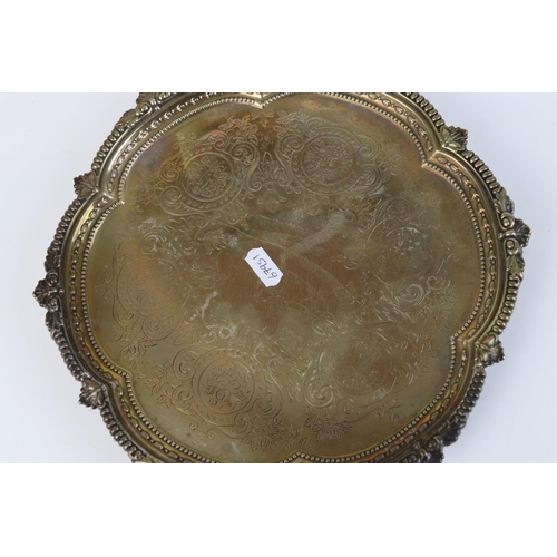 259 - A fully hallmarked sterling silver three footed tray, maker marked for Johnson, Walker & Tolhurst Lt...