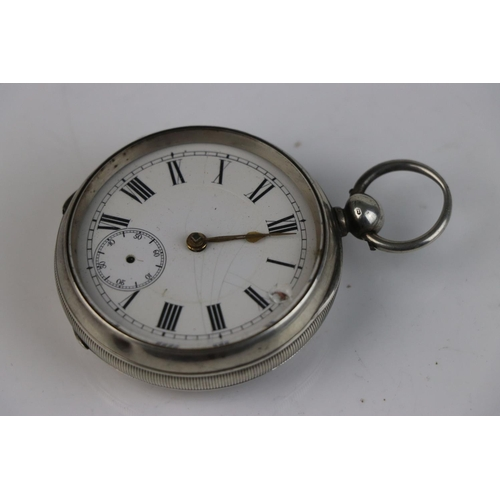 310 - A fully hallmarked sterling silver cased pocket watch, assayed in Birmingham and dated 1893.
