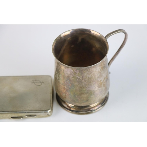 326 - A fully hallmarked sterling silver cigarette case, maker marked for Robert Pringle & Sons, assayed i...