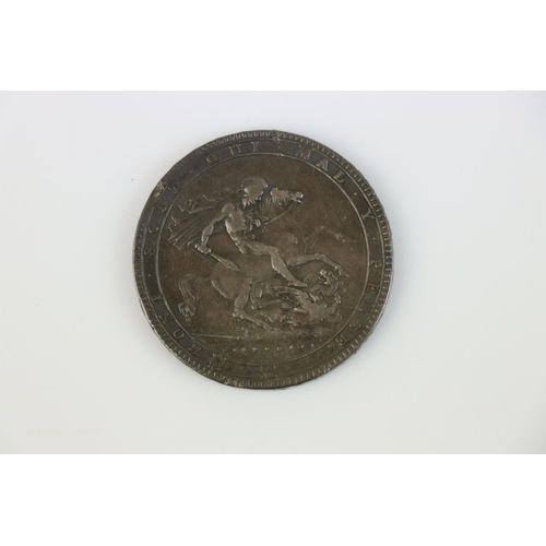 414 - A King George III LIX 1819 silver Crown coin.