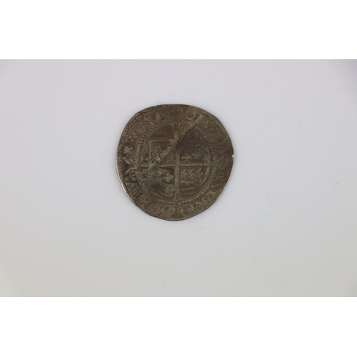 417 - A Queen Elizabeth I 1750 Hammered silver coin.