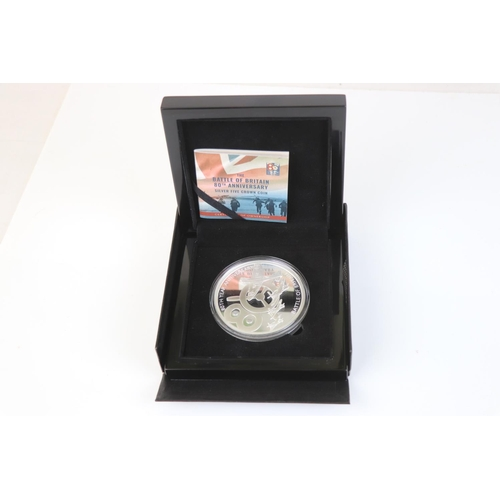422 - A Cased limited edition Bradford Mint 2020 The Battle Of Britain 80th Anniversary silver proof five ...