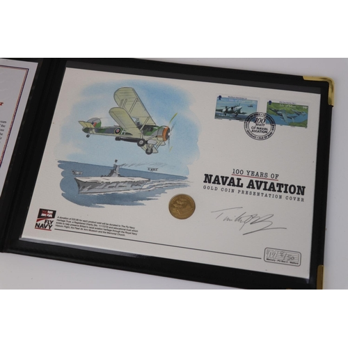 431 - A Westminster Mint limited edition 2009 £25 gold coin 100 years of Naval Aviation presentation cover...
